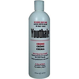 Youthair No More Gray Hair Creme For Men And Women 16oz (3 Pack) by Youthair