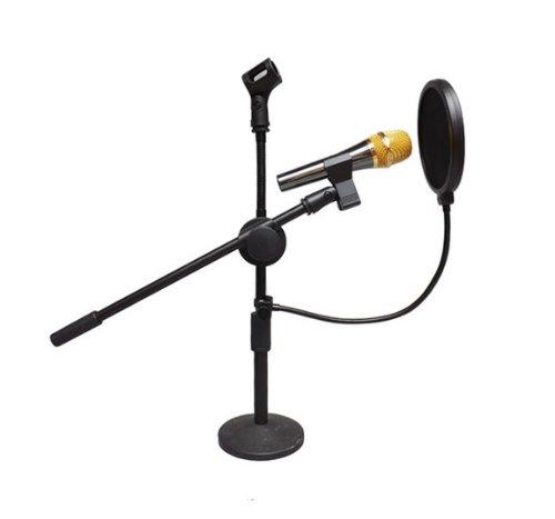 """Dragonpad USA 6 """"Micrófono de estudio Pop Filter con abrazadera - Negro"""