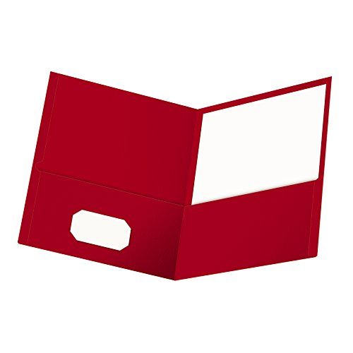 Oxford Twin Pocket Folders, Letter Size, Red, 25 per Box (57511EE) (Poly Twin Portfolio Pocket)