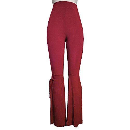 Tendance Rouge Denim Basse La D'éléphant Casual Taille Pantalon Bas Evasé Femme À Pattes Mode Amuster Jean 6ZFxTqw4