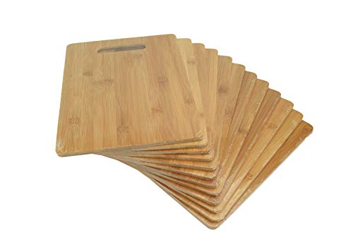 """Bulk Plain Bamboo Cutting Board (Set of 12) 