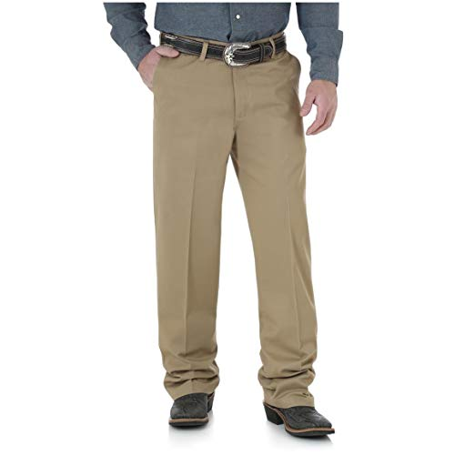Wrangler Riata Flat Front Relaxed Casual Pants, Goldenrod, W42 L30 (Riata Casual Pants)