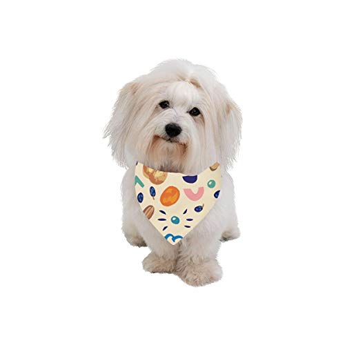 AIKENING Pet Dog Cat Bandana Walnut Dried Fruit Snacks Creative Crops Fashion Printing Bibs Triangle Head Scarfs Kerchief Accessories for Large Dog Pet Birthday Party Easter Gifts