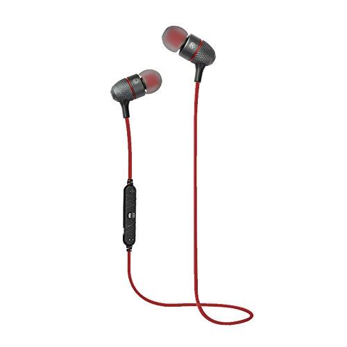 MASUNN Ipipoo Ip-Il90Bl Bluetooth 4,1 Sans Fil In-Ear Stéréo Étanche Sport Écouteurs Avec Microphone - Rouge