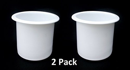 2 7/8 White Plastic Drop In Cup Holder Plastic Multipack Wholesale Bulk Listing Poker ()