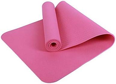 Eco friendly ヨガのすべてのタイプに適した環境に優しいTPEノンスリップヨガマットスポーツパッド厚さ5mmの、ピラティス、床運動183センチメートル×61センチメートル exercise (色 : Pink)