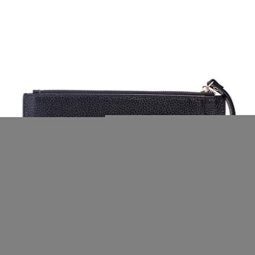 Women Leather Slim Wallets Female Card Holder Clutch Purse Soft Cowhide Organizer Wallet by WUDEF