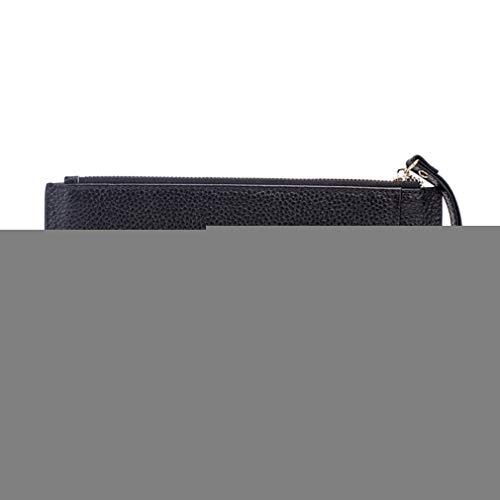Women Leather Slim Wallets Female Card Holder Clutch Purse Soft Cowhide Organizer Wallet by WUDEF