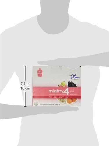 Plum Organics Tots Mighty 4 Essential Nutrition Blend Pouch, Carrot, Guava, Oats and Black Beans, 4 Ounce (Pack of 12)