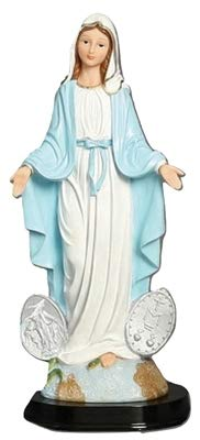 Our Lady Grace 5 Inch Wooden Base Statue (Our Lady Miraculous Medal Statue)