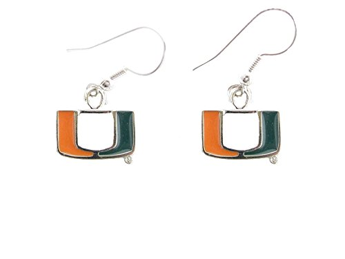 Sports Accessory Store Miami Hurricanes UM Silver Plated Fashion French Hook Earrings by Sports Accessory Store