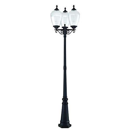 (Acclaim 5369BK/CL Acorn Collection 3-Head Post Combination 3-Light Outdoor Post Light, Matte Black)