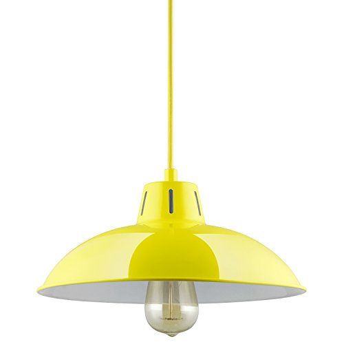 Sunlite CF/PD/V/Y Yellow Vega Residential Ceiling Pendant Light Fixtures with Medium (E26) Base
