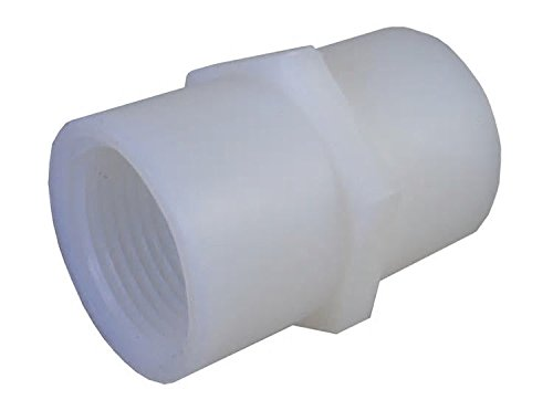 """Nylon FPT Pipe Coupling, 1/8"""" FNPT from A&M INDUSTRIES"""