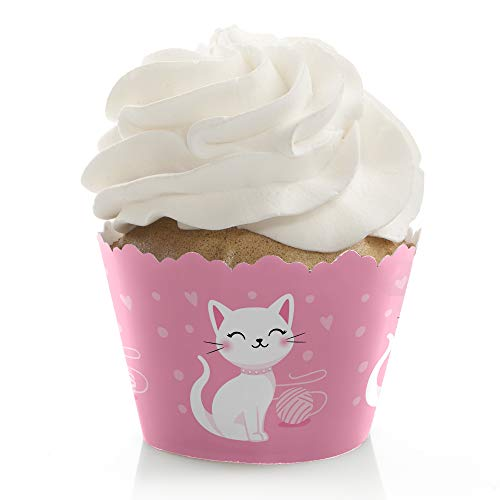 - Big Dot of Happiness Purr-fect Kitty Cat - Kitten Meow Baby Shower or Birthday Party Decorations - Party Cupcake Wrappers - Set of 12