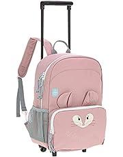 LÄSSIG Trolley ryggsäck 2 i 1/om vänner, ROSA, S, ryggsäck resväska