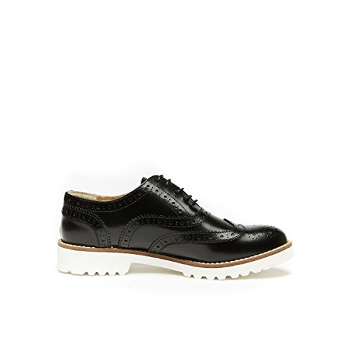 de de Piel Mujer Frank Cordones Daniel Oxford Negro Para Zapatos Negro qRYxpAtX