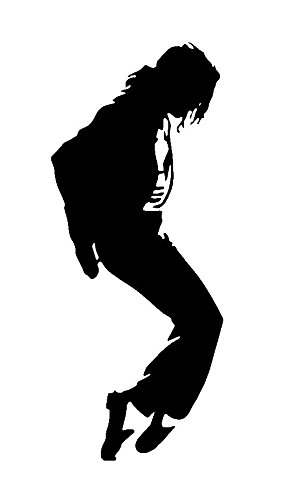 Music Rock Bands Micheal Jackson, Silver, 6 Inch, Die Cut Vinyl Decal, For Windows, Cars, Trucks, Toolbox, Laptops, Macbook-virtually Any Hard Smooth Surface
