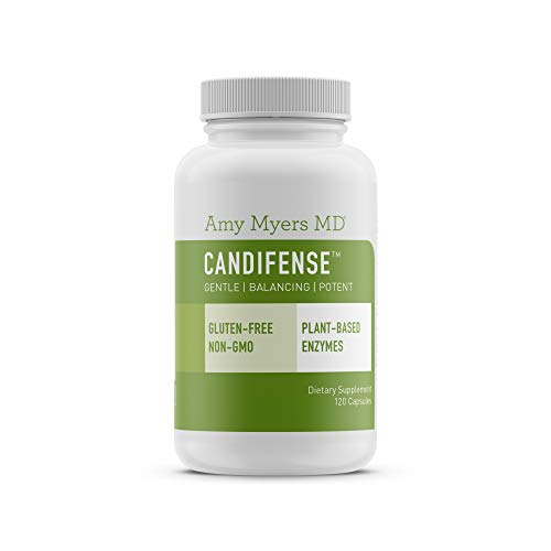 Candifense Candida Cleanse & Detox – Herb Free Plant Based Enzyme Supplement – for Candida Overgrowth, Healthy Probiotic Bacteria, Yeast Infection & Gut Health - 120 Veggie Capsules - by Dr Amy My