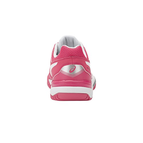 Asics Gel-Challenger 11, Zapatillas de Tenis para Mujer Multicolor (Rouge Red/white/glacier Grey)