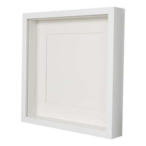 BD-ART-White-Shadow-Box-3D-Square-Picture-Frame-28-x-28-x-47-cm-with-Mount-8×8-inch