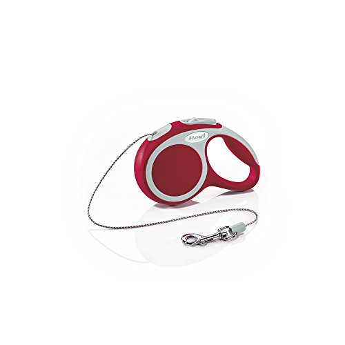 Flexi Vario Retractable Dog Leash (Cord), 10 ft, Extra-Small, Red (Leash Dog Retractable Animal)