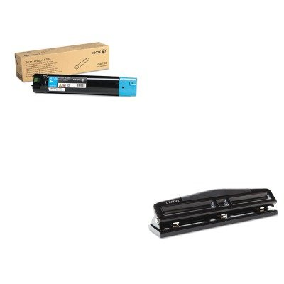 KITUNV74323XER106R01503 - Value Kit - Xerox 106R01503 Toner (XER106R01503) and Universal 12-Sheet Deluxe Two- and Three-Hole Adjustable Punch (UNV74323)