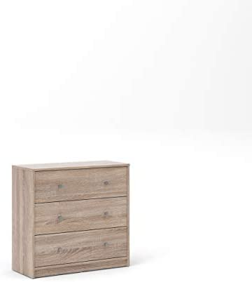 Tvilum 3 Drawer Chest, Truffle