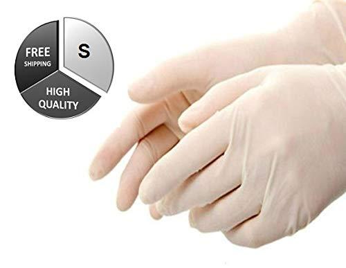ラテックス使い捨てパウダー工業用手袋 - 厚さ4.0ミル サイズ: S - 900個 B07928RFY3