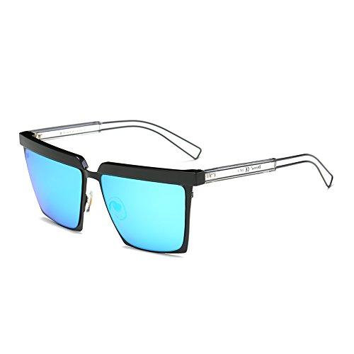 Cool Oversized Mirrored Flat Top Sunglasses Square Aviator Shades - Luxury Online Sunglasses