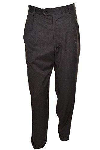 Kirkland Signature Pleated Dress Pants (34W X 30L, Charcoal Small Plaid) -