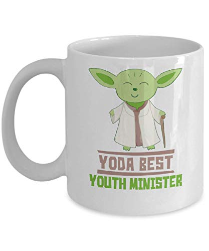 Gift For Youth Ministers - Yoda Best Youth Minister Mug - Star Wars Funny Coffee Cup Present