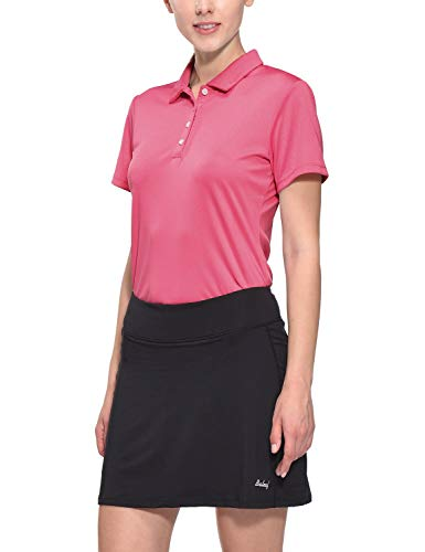 - Baleaf Women's Golf Tennis Polo T-Shirts Quick Dry UPF 50+ Rose Pink Size XL