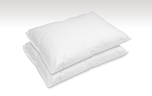 [2 Pack Hotel Laundry Waterproof Allergy-free Hypoallergentic Sleep Pillows for home care, hosipitality, mobile homes and RV's (Standard)] (Sleep Allergy Free Pillow)