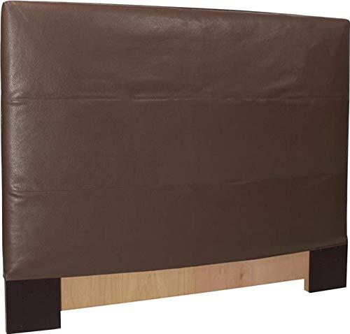 Headboard Howard Elliott Avanti Twin Pecan Deep Brown Faux Leather Polyu