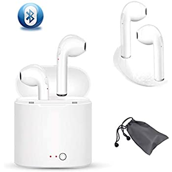 Bluetooth Mini Sports Headphones, Hands-Free Portable with Noise Reduction and Charging Enclosure, Compatible with Smartphones (white)