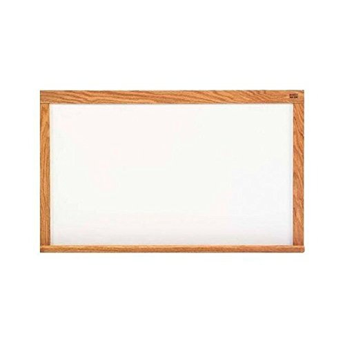 Marsh Pro-Rite 60x96 White porcelain markerboard, Red Oak Wood Trim / 2