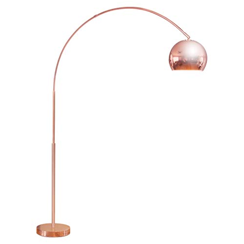 Brightech Olivia - LED Arc Floor Lamp for Living Room - Tall