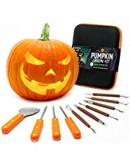 Joyousa Pumpkin Carving Tools Kit - 10 Piece Heavy Duty Stainless Steel Jack-O-Lantern Halloween Sculpting Set ()