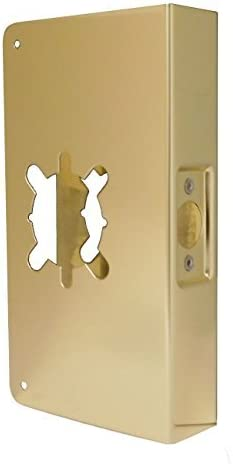 Don-Jo 20-2-CW 22 Gauge Stainless Steel Wrap-Around Plate, Polished Brass Finish, 5-3/4 Width x 20 Height, 2-3/4 Backset, 1-3/4 Door Size by Don-Jo