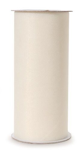 Darice 2912-81 6-Inch-by-25-Yard Tulle, Ivory