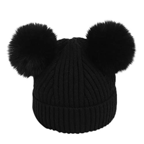 Gbell Toddler Infant Winter Pompom Ball Hat Knitted,Venonat Knited Woolen Headgear Crochet Beanies Cap for Baby Kids Boys Girls ()