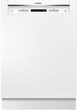 "Bosch SHE53T52UC 300 24"" Snowy Semi-Integrated Dishwasher - Energy Star"
