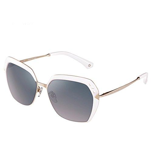 polarisées lunettes Élégantes soleil Blanc lady de q6qfgxwn5F