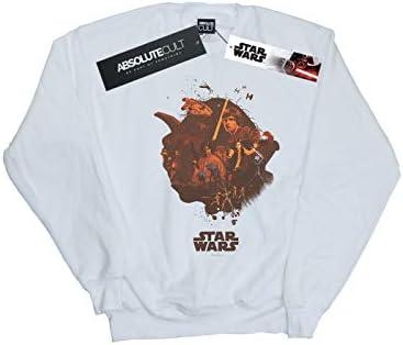 Star Wars Herren Yoda Montage Sweatshirt Weiß XXXXX-Large