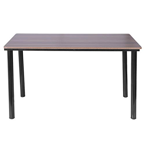 Jeeke Modern Household Steel Wood Computer Desk PC Laptop Study Table Office Desk Workstation for Home Office, 47.2 x 23.6 x 28.3 inches, Ship from USA ()