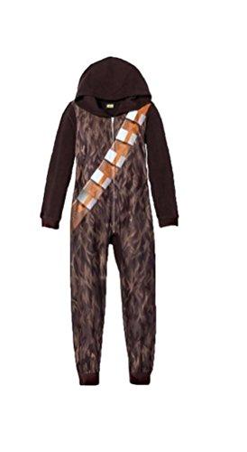 Star Wars Chewbacca Boys One Piece Sleeper Fleece Pajama (4, Brown)