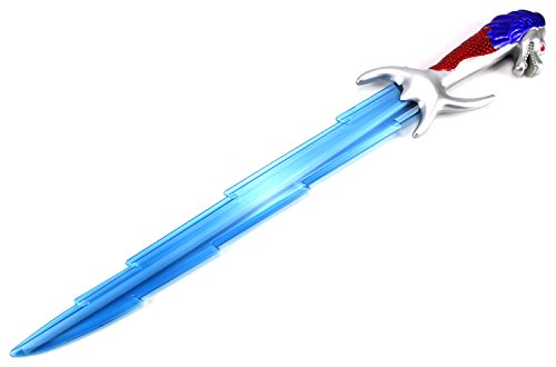 Thunderbolt Dragon LED Children's Kid's Battery Operated Toy Sword w/ Lights, Sounds (Colors May Vary)