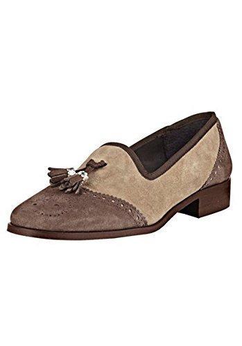 Best Connections Mocasines Mujer de Terciopelo de Beige - Topo, 35: Amazon.es: Zapatos y complementos