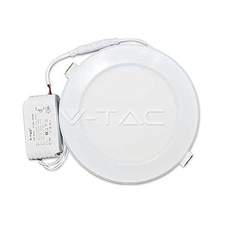 Panel Led Redondo 18W V-TAC VT-1809 1350lm Blanco Frio 6000K: Amazon.es: Iluminación